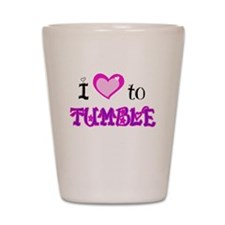 I Love to Tumble Shot Glass