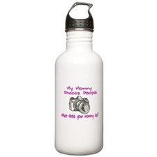 My Mommy Shoots- Pink Water Bottle