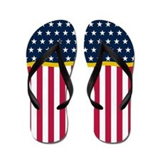 Patriotic July 4th Flip Flops