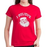 I Believe Santa Women's Dark T-Shirt