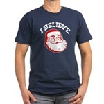 I Believe Santa Men's Fitted T-Shirt (dark)