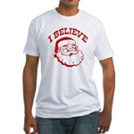 I Believe Santa Fitted T-Shirt