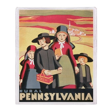 Rural Pennsylvania Throw Blanket