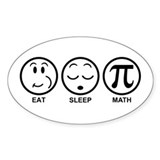 Eat Sleep Math Stickers