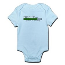 Pooping, please be patient Infant Bodysuit