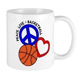 Peace, Love, Basketball Small Mug