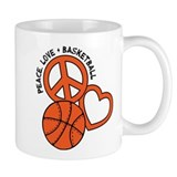 Peace, Love, Basketball Mug