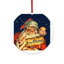 Fire Obama Ornament (Round)