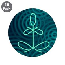 "Yoga Glee Blue Spiral 3.5"" Button (10 pack)"