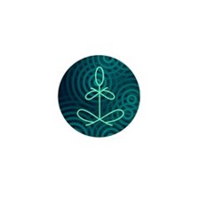 Yoga Glee Blue Spiral Mini Button (10 pack)