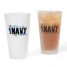 Father Law Hero3 - Navy Drinking Glass