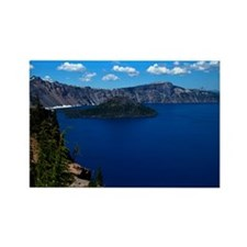 Crater Lake Wizard Island Rectangle Magnet