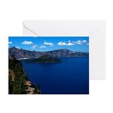 Crater Lake Wizard Island Greeting Cards (Pk of 20