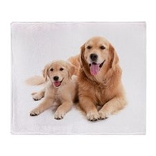 Golden retriever buddies Throw Blanket