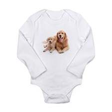 Golden retriever buddies Long Sleeve Infant Bodysu