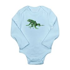 Green Lizard Long Sleeve Infant Bodysuit