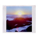 California Coast Sunset Throw Blanket