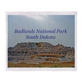 Badlands National Park Throw Blanket