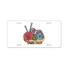 Yarn Slut Aluminum License Plate