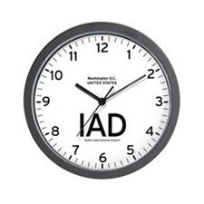 Washington IAD Airport Newsroom Wall Clock