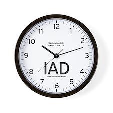 Washington IAD Airport Newsroom Wall Clock