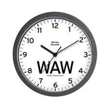 Warsaw WAW Airport Newsroom Wall Clock