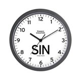 Singapore SIN Airport Newsroom Wall Clock