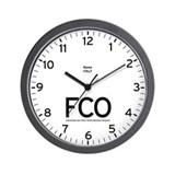 Rome FCO Airport Newroom Wall Clock