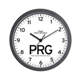 Prague PRG Airport Newsroom Wall Clock