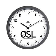 Oslo OSL Airport Newsroom Wall Clock
