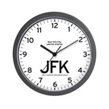 New York JFK Airport Newsroom Wall Clock