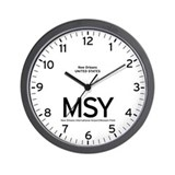 New Orleans MSY Airport Newsroom Wall Clock