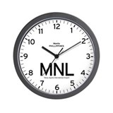 Manila MNL Airport Newsroom Wall Clock
