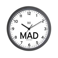 Madrid MAD Airport Newsroom Wall Clock