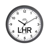 London LHR Airport Newsroom Wall Clock