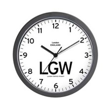 London LGW Airport Newsroom Wall Clock