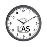 Las Vegas LAS Airport Newsroom Wall Clock