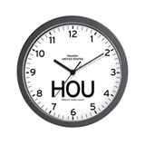 Houston HOU Airport Newsroom Wall Clock