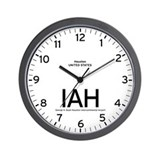 Houston IAH Airport Newsroom Wall Clock