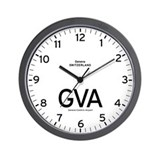 Geneva GVA Airport Newsroom Wall Clock