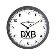 Dubai DXB Airport Newsroom Wall Clock