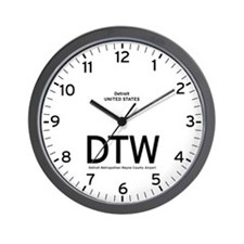 Detroit DTW Airport Newsroom Wall Clock