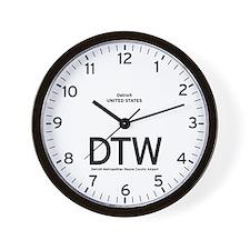 Detroit DTW Airport Newsroom Wall Clock