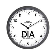 Denver DIA Airport Newsroom Wall Clock
