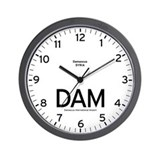 Damascus DAM Airport Newsroom Wall Clock