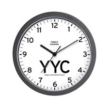 Calgary YYC Airport Newsroom Wall Clock