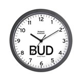 Budapest BUD Airport Newsroom Wall Clock