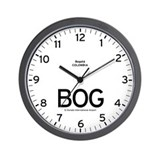 Bogota BOG Airport Newsroom Wall Clock
