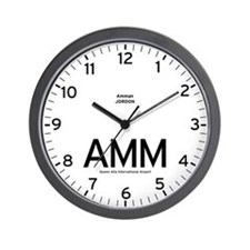 Amman AMM Airport Newsroom Wall Clock