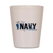 Dad Hero3 - Navy Shot Glass